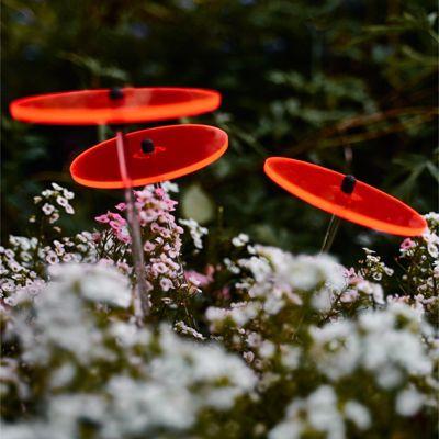 Cazador del sol Sonnenstrauß aus 3 Sonnenblumen 8cm Durchmesser Rot