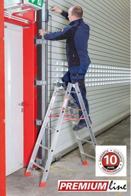 Euroline Alu Sprossen Stehleiter - Premium 2x4 Sprossen - Länge 1,25m   Baumarkt > Leitern und Treppen > Stehleiter   euroline