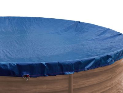 Grasekamp Abdeckplane Pool rund 420 cm Winterabdeckplane Royalblau