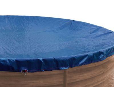 Grasekamp Abdeckplane Pool rund 350-360 cm Winterabdeckplane Royalblau