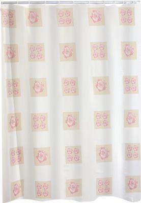 Duschvorhang Textil Rose