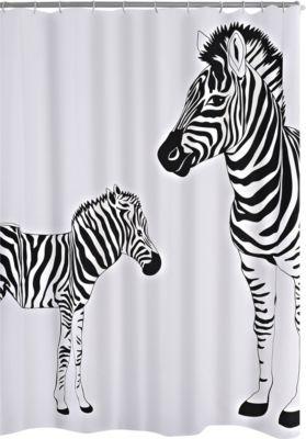 Duschvorhang Textil Zebra