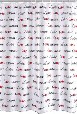 Duschvorhang Textil Amour