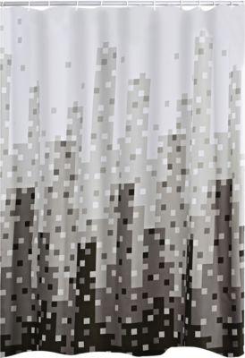 Duschvorhang Textil Skyline