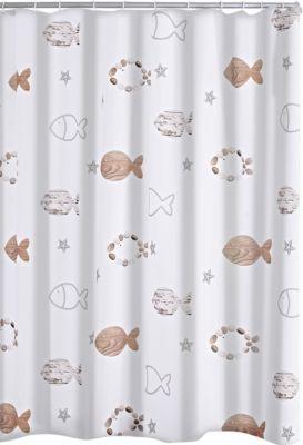 Duschvorhang Textil Fishes