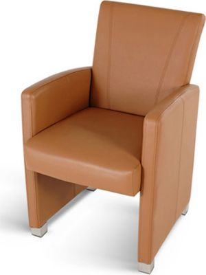 Design Lounge Sessel Lederimitat cappuccino