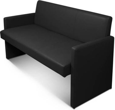 cats collection sitzbank bank echtleder gepolstert einzelbank k chenbank schwarz mit r ckenlehne. Black Bedroom Furniture Sets. Home Design Ideas