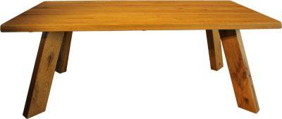 massiver Esstisch 200 x 100 cm Wildeiche geölt
