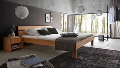Massivholzbett in Kernbuche geölt 140 x 200 cm