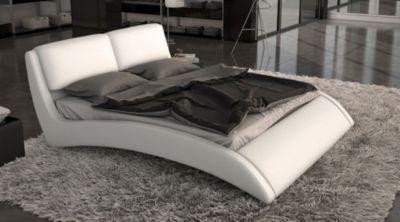 exklusives Design Polsterbett 160 x 200cm weiß