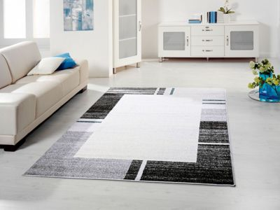 Designer Teppich blau