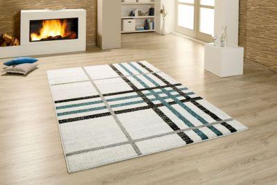 moderner Teppich blau