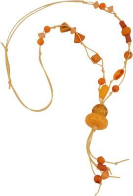 Kette, Blumenperle gelb-orange
