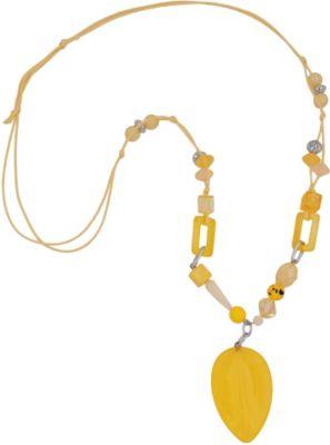 Kette, Blatt gelb-marmoriert-matt