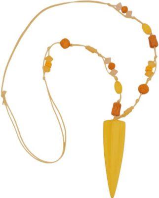 Kette, Dreieck lang, gelb-marmoriert