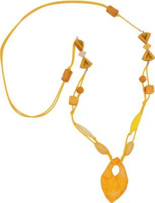 Kette, Faustkeil gelb-orange-marmoriert