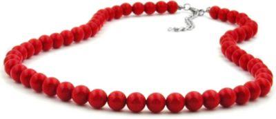 Kette, Perle 8mm rot-glänzend