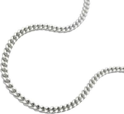 Kette, Panzer 2x diamantiert Silber 925