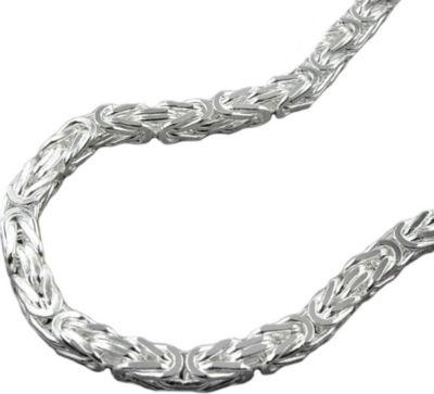 Armband Königskette 4mm Silber 925 21cm