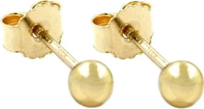 Stecker, 3mm Kugel, hohl, 9Kt GOLD
