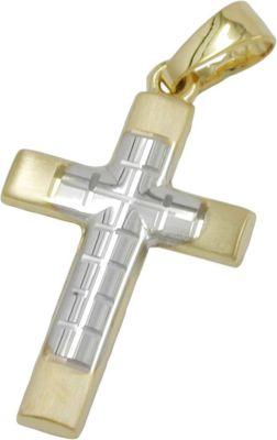Anhänger, Kreuz bicolor, 14K GOLD