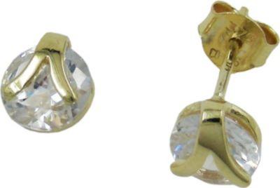 Cats Collection Stecker, 6mm Zirkonia, 9Kt GOLD