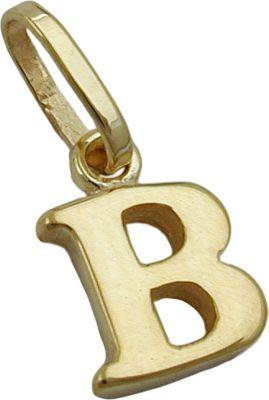 Anhänger Halskettenanhänger Buchstabe B 9Kt GOLD