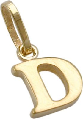 Anhänger Halskettenanhänger Buchstabe D 9Kt GOLD