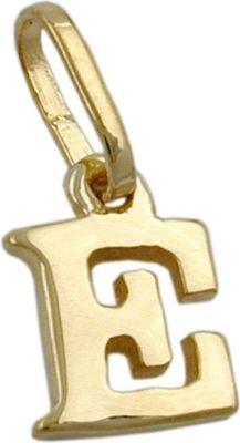 Anhänger Halskettenanhänger Buchstabe E 9Kt GOLD