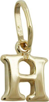 Anhänger Halskettenanhänger Buchstabe H 9Kt GOLD