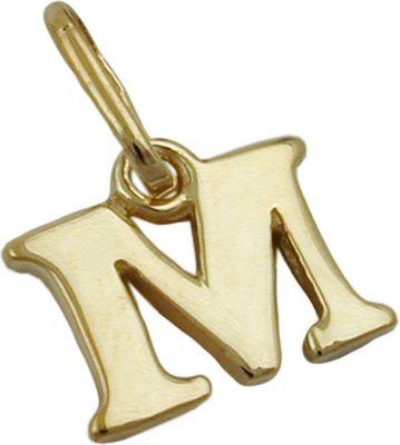 Anhänger Halskettenanhänger Buchstabe M 9Kt GOLD