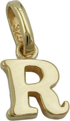 Anhänger Halskettenanhänger Buchstabe R 9Kt GOLD