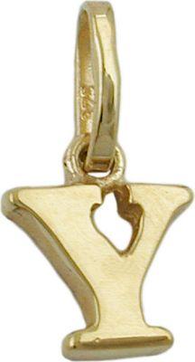 Anhänger Halskettenanhänger Buchstabe Y 9Kt GOLD