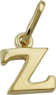 Anhänger Halskettenanhänger Buchstabe Z 9Kt GOLD