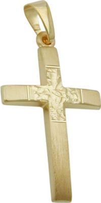 Anhänger Halskettenanhänger Kreuz diamantiert 9Kt GOLD