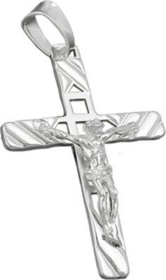 Anhänger Halskettenanhänger Kreuz mit Jesus Silber 925