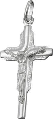 Anhänger Halskettenanhänger Kreuz Jesus glänzend Silber 925