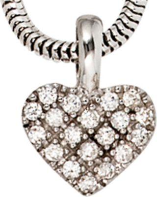 Jobo Anhänger Halskettenanhänger Herz Brillanten 14Kt GOLD