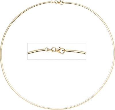 Halsreif 333 Gelbgold 2 mm 45 cm Gold Kette Halskette Goldhalsreif Karabiner
