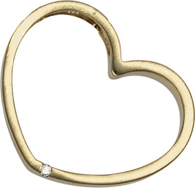 Jobo Anhänger Halskettenanhänger Herz Brillant 14Kt GOLD