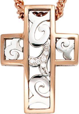 Jobo Anhänger Halskettenanhänger Kreuz Brillanten 14Kt GOLD