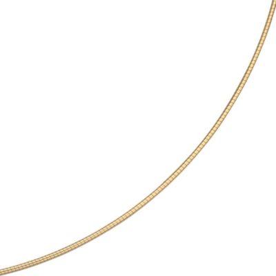 Jobo Halsreif 585 Gelbgold 1,1 mm 45 cm Gold Kette Halskette Goldhalsreif Karabiner