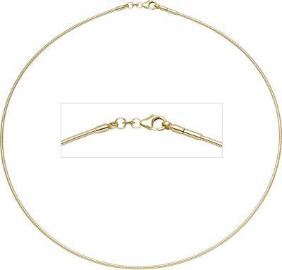 Jobo Halsreif 333 Gelbgold 1,5 mm 45 cm Gold Kette Halskette Goldhalsreif Karabiner