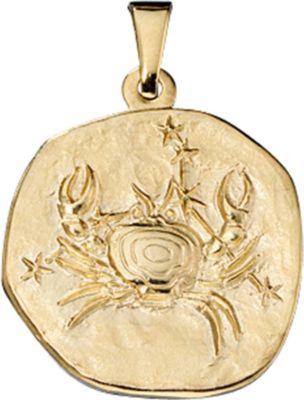 Jobo Anhänger Halskettenanhänger Krebs 8Kt GOLD