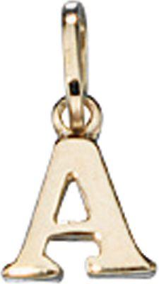 Anhänger Halskettenanhänger Buchstabe A 8Kt GOLD