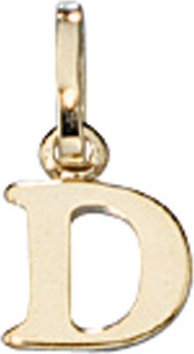 Anhänger Halskettenanhänger Buchstabe D 8Kt GOLD