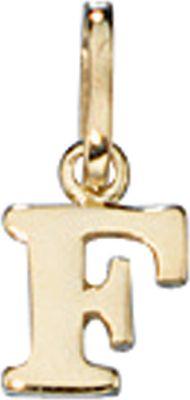 Anhänger Halskettenanhänger Buchstabe F 8Kt GOLD