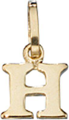 Anhänger Halskettenanhänger Buchstabe H 8Kt GOLD
