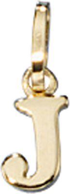Anhänger Halskettenanhänger Buchstabe J 8Kt GOLD