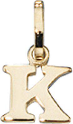 Anhänger Halskettenanhänger Buchstabe K 8Kt GOLD